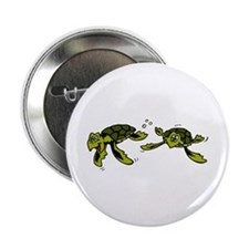 "Baby Sea Turtles Swimming 2.25"" Button (100 pack)"