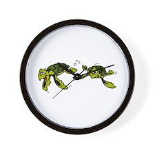 Baby Sea Turtles Swimming Wall Clock