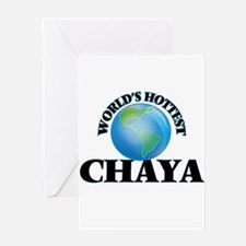World's Hottest Chaya Greeting Cards