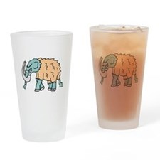 Woolly Mammoth Drinking Glass