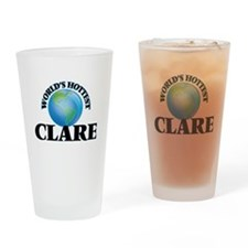 World's Hottest Clare Drinking Glass