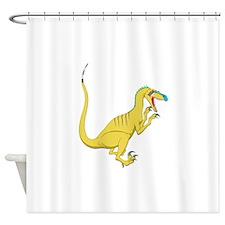 Velociraptor Shower Curtain
