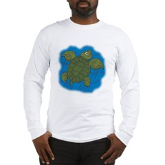 Cute Swimming Sea Turtle Long Sleeve T-Shirt