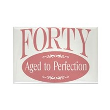 40th aged to perfection Rectangle Magnet (100 pack