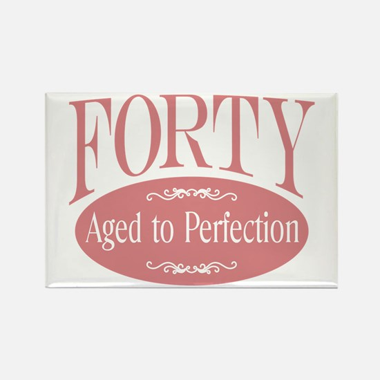40th aged to perfection Rectangle Magnet