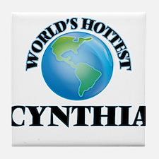 World's Hottest Cynthia Tile Coaster
