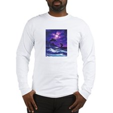 dolphins jumping Long Sleeve T-Shirt