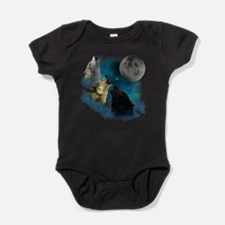 Unique Wolf Baby Bodysuit
