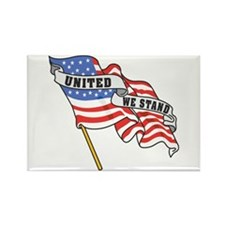 United We Stand Patriotic Rectangle Magnet