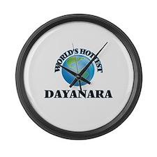 World's Hottest Dayanara Large Wall Clock