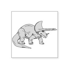 Grey Triceratops Sticker
