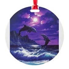 dolphins jumping Ornament