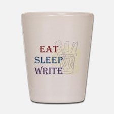 Eat Sleep Write Shot Glass