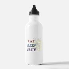 Eat Sleep Write Water Bottle