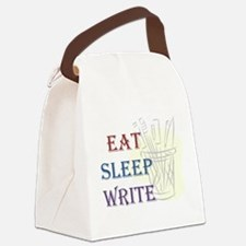 Eat Sleep Write Canvas Lunch Bag