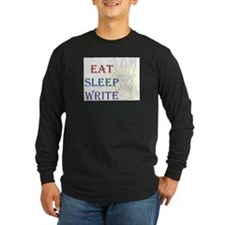 Eat Sleep Write Long Sleeve T-Shirt