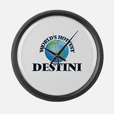 World's Hottest Destini Large Wall Clock