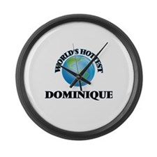 World's Hottest Dominique Large Wall Clock