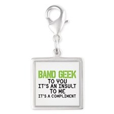 Band Geek Insult Silver Square Charm