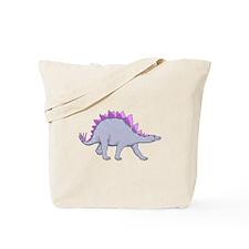 Purple Stegosaurus Tote Bag