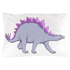 Purple Stegosaurus Pillow Case