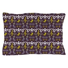 Music Notes And Birds Pillow Case