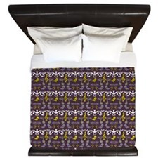 Music Notes And Birds King Duvet