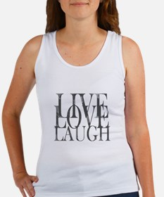 Live Love Laugh Inspirational Quote Tank Top