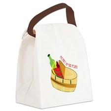 Picnic In Park Canvas Lunch Bag