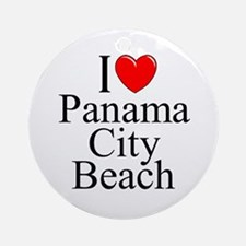 """I Love Panama City Beach"" Ornament (Round)"