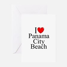 """I Love Panama City Beach"" Greeting Cards (Package"