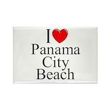 """I Love Panama City Beach"" Rectangle Magnet"