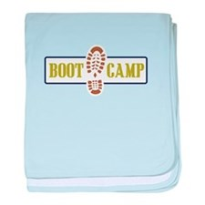 Boot Camp baby blanket