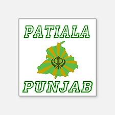 """Unique Punjab Square Sticker 3"""" x 3"""""""