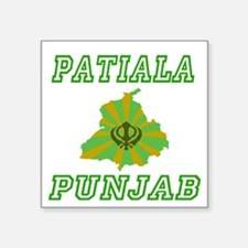 "Funny Punjabi Square Sticker 3"" x 3"""