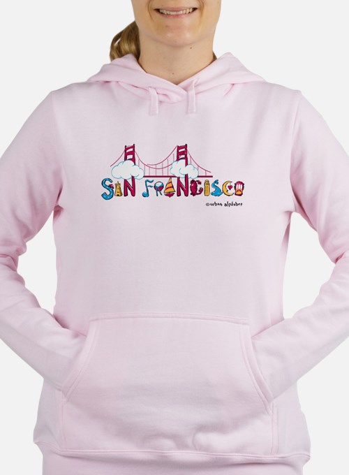 Cute San francisco bay Women's Hooded Sweatshirt