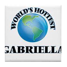 World's Hottest Gabriella Tile Coaster