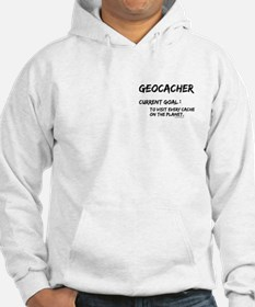 Geocacher Goals Pocket Image Hoodie