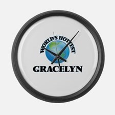 World's Hottest Gracelyn Large Wall Clock