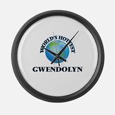 World's Hottest Gwendolyn Large Wall Clock
