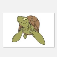 Grinning Sea Turtle Postcards (Package of 8)