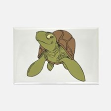 Grinning Sea Turtle Rectangle Magnet (10 pack)