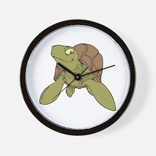Grinning Sea Turtle Wall Clock
