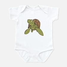 Grinning Sea Turtle Infant Bodysuit