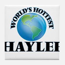 World's Hottest Haylee Tile Coaster