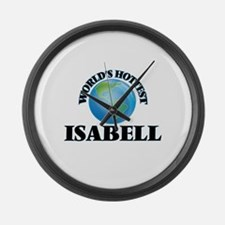 World's Hottest Isabell Large Wall Clock