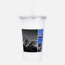 Seattle Blue Grey Acrylic Double-wall Tumbler