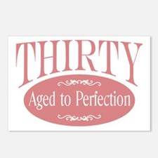 30th aged to perfection Postcards (Package of 8)