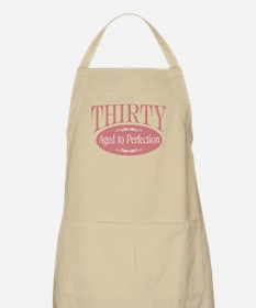 30th aged to perfection BBQ Apron