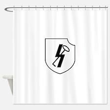 12th SS Panzer Division Hitlerjugen Shower Curtain